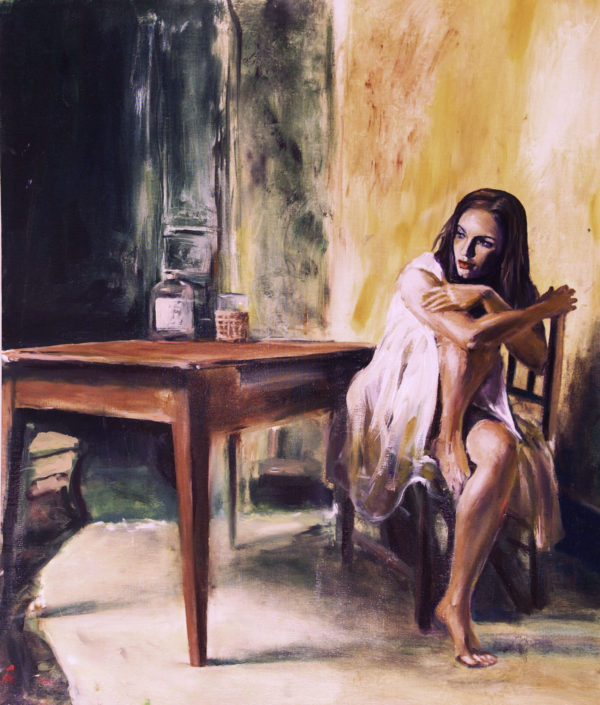 Mistery and Loneliness painting