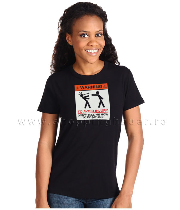 Tricou warning - unisex
